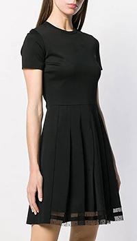 Черное платье Red Valentino с коротким рукавом, фото