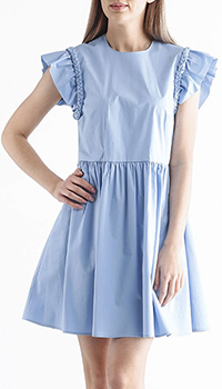 Голубое платье Red Valentino с рюшами , фото