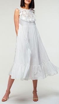 Белое платье Red Valentino с пышной юбкой, фото