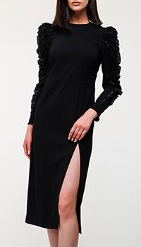Черное платье Red Valentino с вырезом, фото