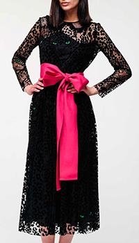 Черное платье Red Valentino с большим бантом, фото