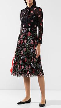 Платье-миди Red Valentino с флористическим принтом, фото