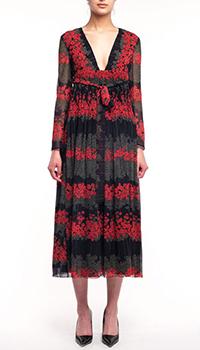 Платье-миди Red Valentino с принтом Dreaming Peony, фото
