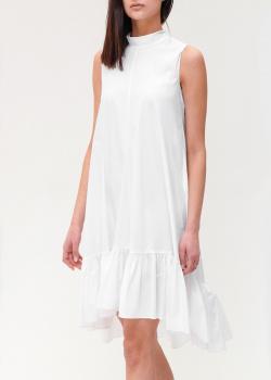 Белое платье Red Valentino с оборкой на подоле, фото