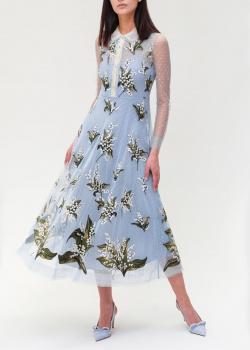 Платье-миди Red Valentino с прозрачными рукавами, фото