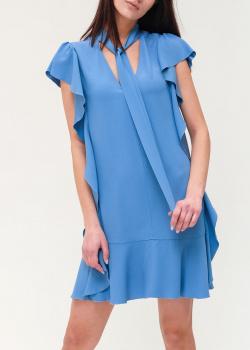 Синее платье Red Valentino с V-образным вырезом, фото