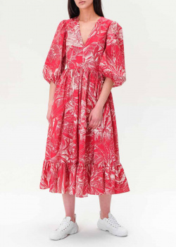 Платье-миди Red Valentino с V-образным вырезом, фото