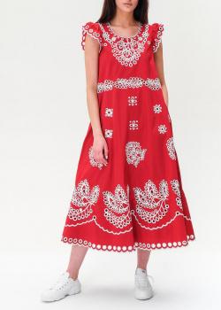 Красное платье Red Valentino с орнаментом, фото