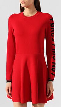 Красное платье Red Valentino с полосой на манжетах, фото