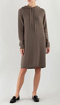 Трикотажное платье Max&Moi из коричневого кашемира, фото