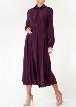 Шелковое платье-рубашка Rochas с декором на воротнике, фото