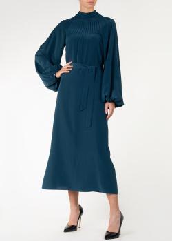 Платье с длинным рукавом Rochas цвета морской волны, фото