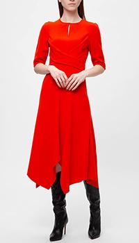 Красное платье Dorothee Schumacher с пышной юбкой, фото