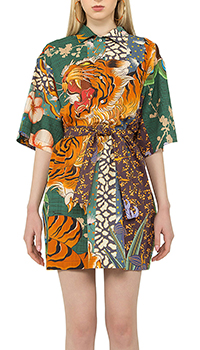 Платье Dsquared2 с принтом в виде тигра, фото