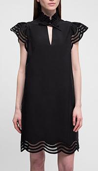 Черное платье P.A.R.O.S.H. с коротким рукавом, фото