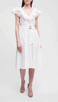 Белое платье P.A.R.O.S.H. с открытой спиной, фото