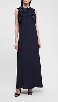 Длинное платье P.A.R.O.S.H. синего цвета, фото