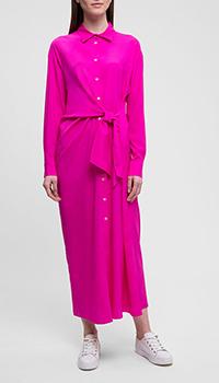 Шелковое платье P.A.R.O.S.H. розового цвета, фото