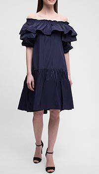 Синее платье P.A.R.O.S.H. с открытой спиной, фото