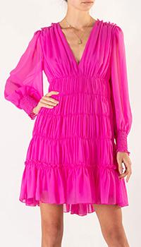 Платье расклешенного кроя Sandro цвета фуксия, фото