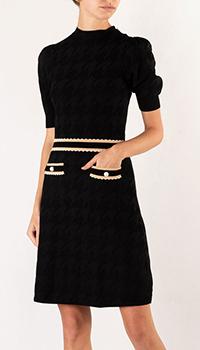 Черное платье Sandro с коротким рукавом, фото