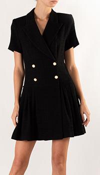 Платье-пиджак Sandro черного цвета, фото