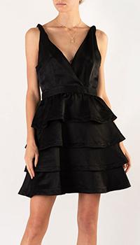 Черное платье Sandro с пышной юбкой до колен, фото