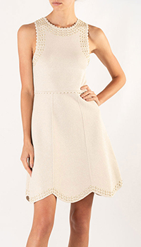 Платье без рукавов Sandro с декором-бусинами, фото