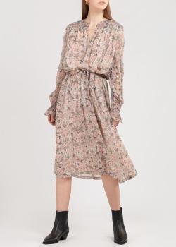 Бежевое платье-миди Zadig & Voltaire с пайетками, фото