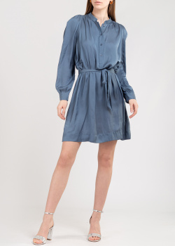 Голубое платье Zadig & Voltaire с эластичным поясом, фото
