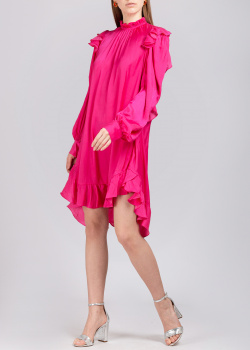 Платье цвета фуксии Zadig & Voltaire с оборками, фото
