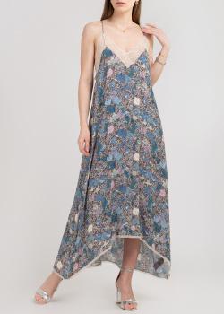 Длинное платье Zadig & Voltaire с асимметричной юбкой, фото