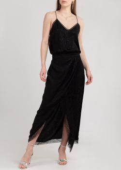 Шелковое платье Zadig & Voltaire с кружевными вставками, фото