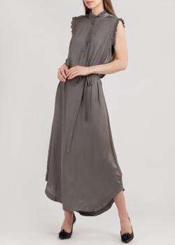 Серое платье Zadig & Voltaire с рюшами, фото