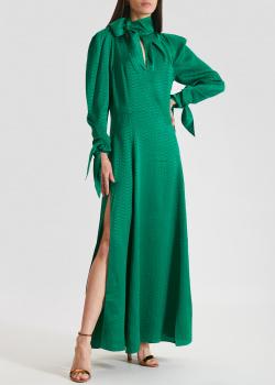 Шелковое платье Zadig & Voltaire изумрудного цвета, фото