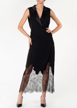 Черное платье Self-Portrait с лацканами, фото