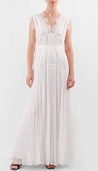 Кружевное платье в пол Self-Portrait с плиссировкой, фото