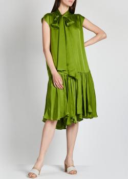 Зеленое платье Rochas с бантом, фото