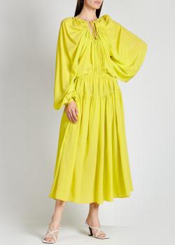 Шелковое платье Rochas с объемными рукавами, фото