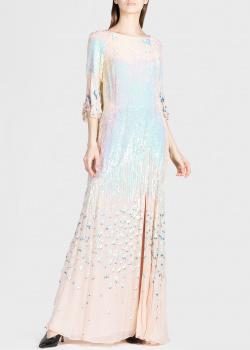 Пудровое платье Temperley London с открытой спиной, фото