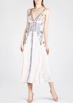 Шелковое платье Temperley London с вышивкой и пайетками, фото
