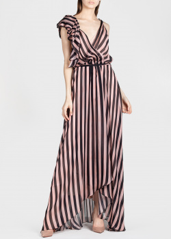 Шелковое платье Temperley London с воланом, фото