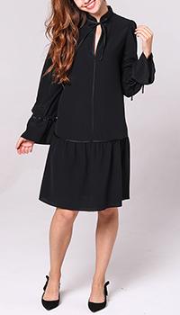 Платье Emporio Armani черного цвета с пышной юбкой, фото