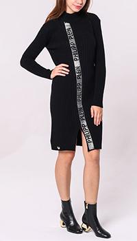 Вязаное платье Philipp Plein с декором-стразами, фото