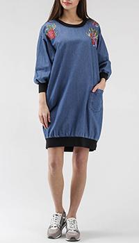 Джинсовое платье Love Moschino оверсайз, фото