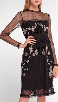 Платье Twin-Set черное с декором-камнями, фото