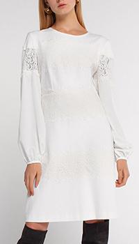 Платье Twin-Set молочного цвета до колен, фото