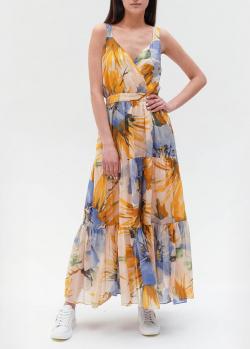 Длинное платье Twin-Set с цветочным узором, фото