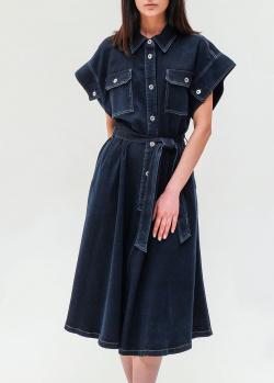 Джинсовое платье-рубашка Twin-Set синего цвета, фото