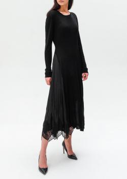 Трикотажное платье Twin-Set с плиссировкой и кружевом, фото